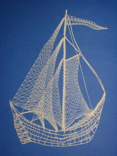Les voiliers - Dentelle Figurative